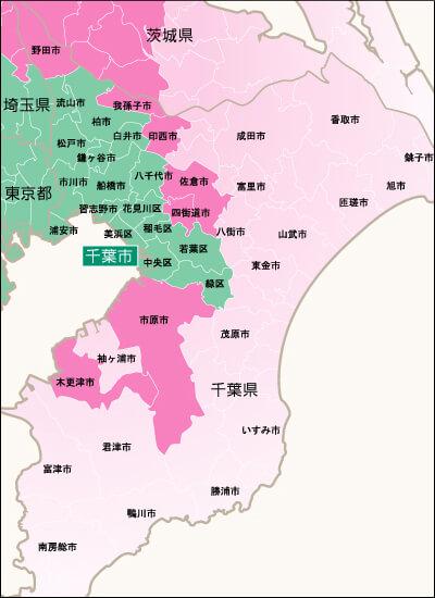 地域別対応状況・千葉県詳細地図