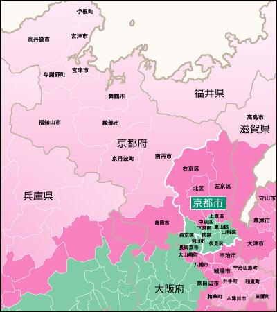 地域別対応状況・京都府詳細地図