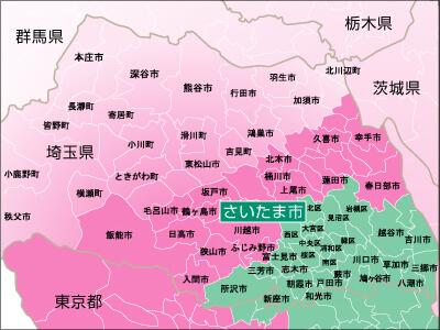 地域別対応状況・埼玉県詳細地図