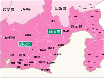 地域別対応状況・静岡県詳細地図
